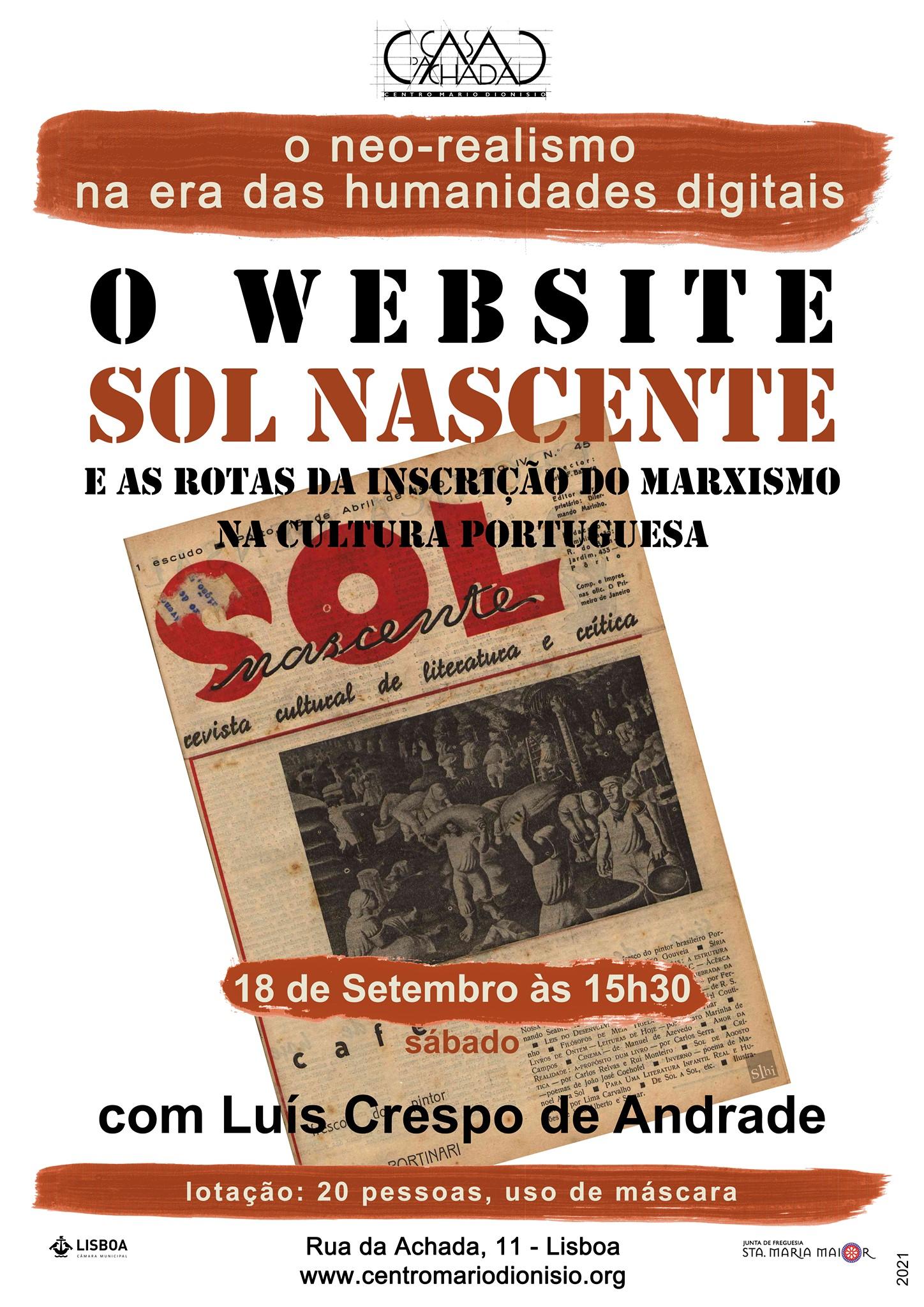 O website SOL NASCENTE e as rotas da inscrição do marxismo na cultura portuguesa