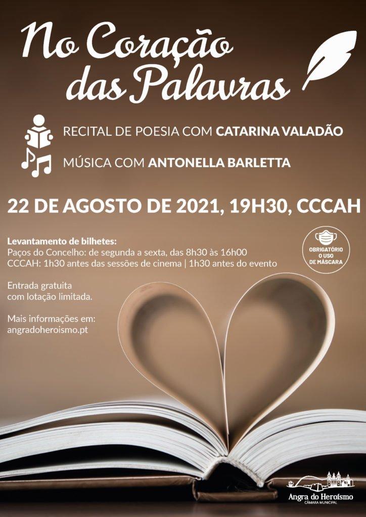 No Coração das Palavras – Catarina Valadão acompanhada por Antonella Barletta