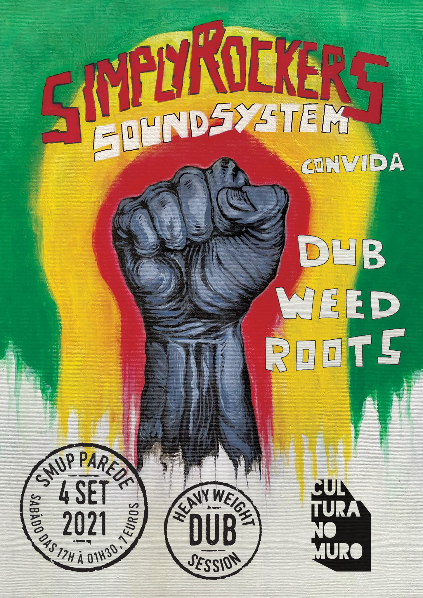 A Cultura no Muro apresenta: Simply Rockers Sound System + Dub Weed Roots na SMUP