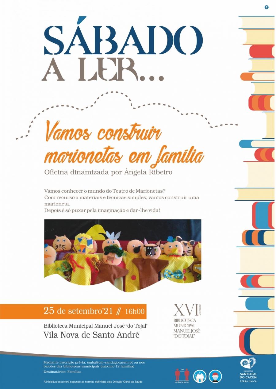 Sábado a Ler – Vamos construir marionetas em família