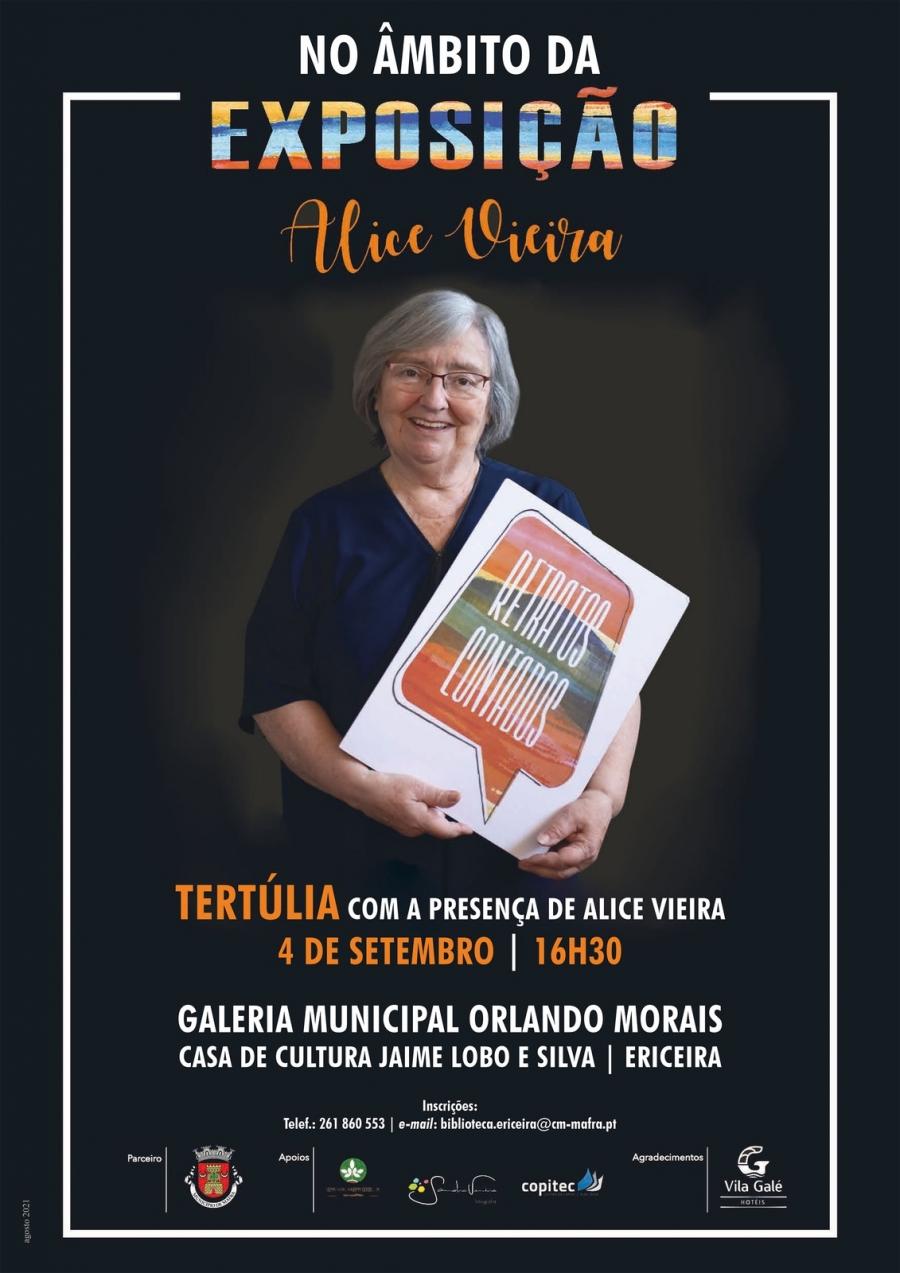 Tertúlia com a presença de Alice Vieira