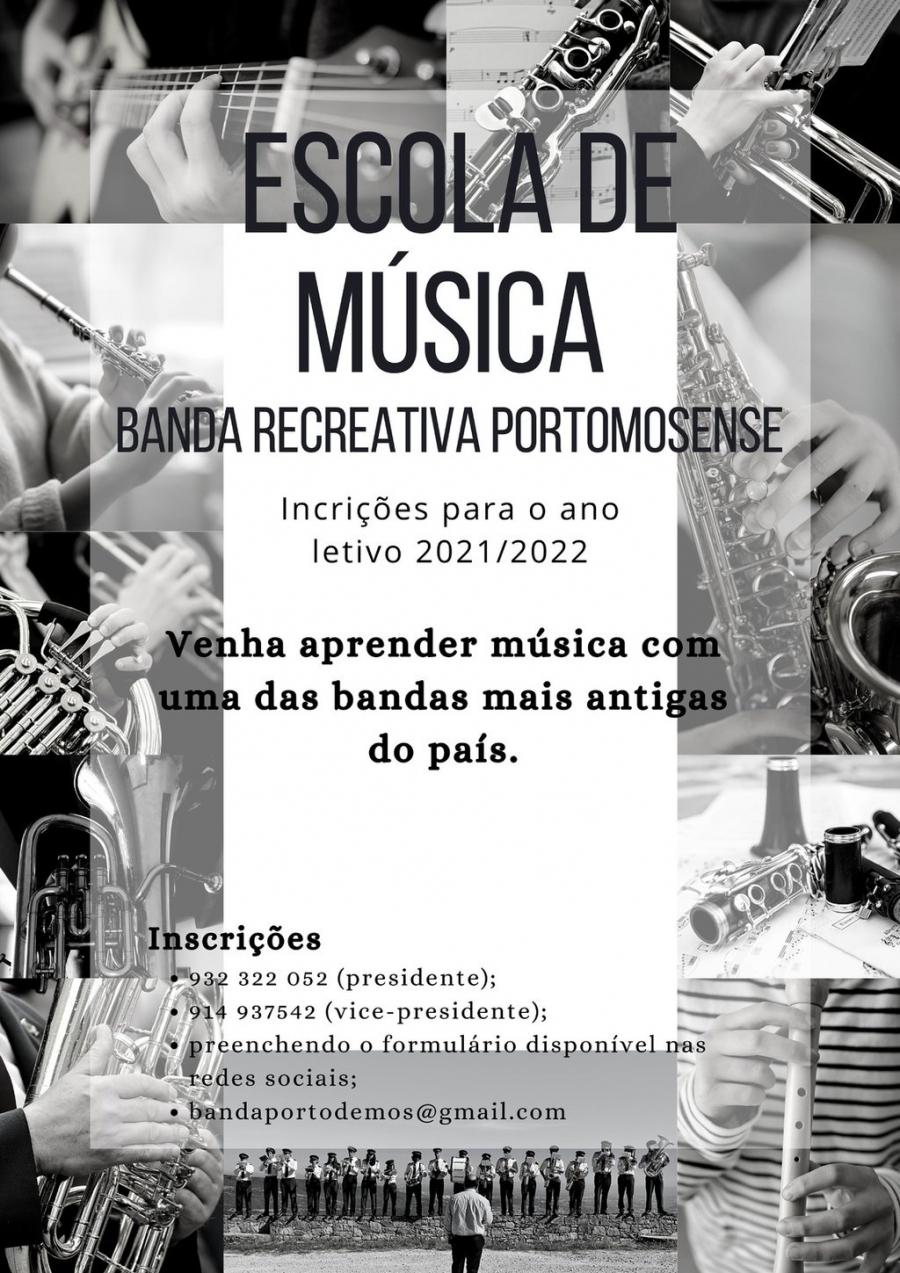 ESCOLA DE MÚSICA DA  BANDA RECREATIVA PORTOMOSENSE