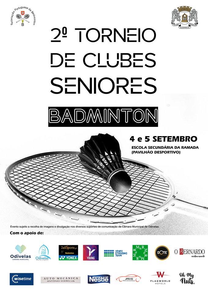Badminton -  2º Torneio de Clubes Seniores