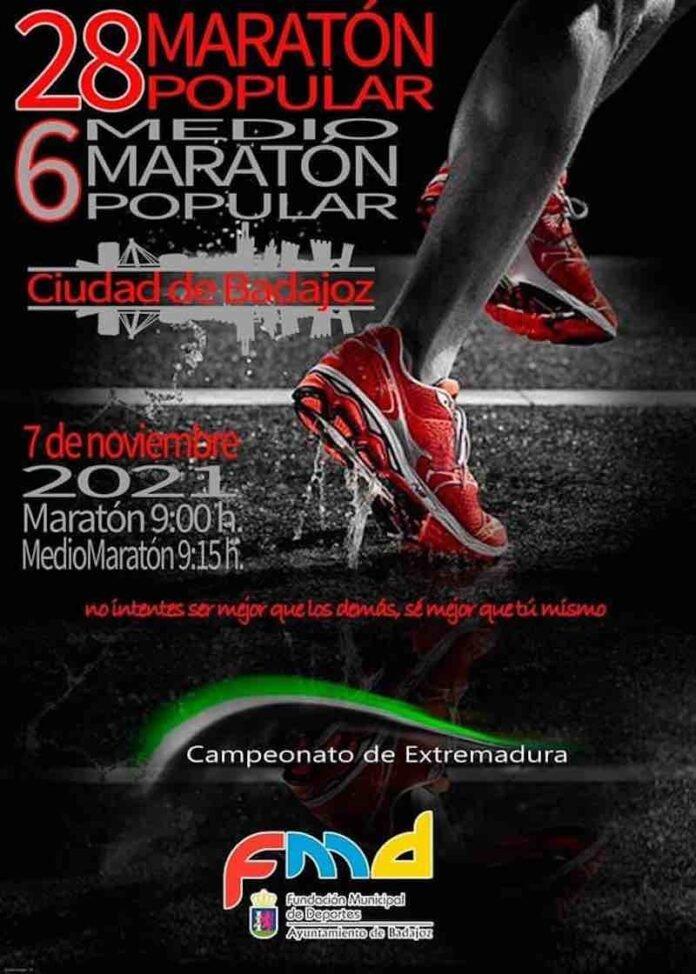 28.ª Maratón y 6.ª Medio Maratón 'Ciudad de Badajoz'