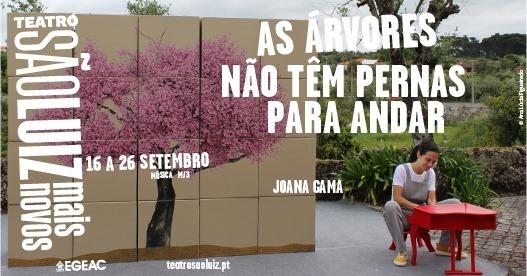 AS ÁRVORES NÃO TÊM PERNAS PARA ANDAR | Joana Gama, no Teatro São Luiz