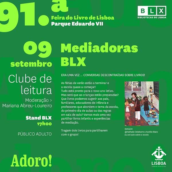 BLX na 91ª Feira do Livro de Lisboa – Clube de Leitura das Mediadoras BLX