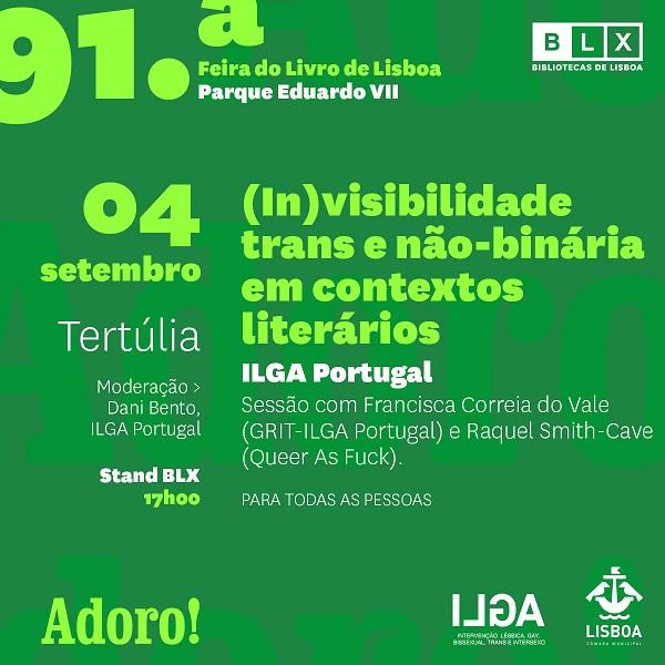 BLX na 91ª Feira do Livro de Lisboa –  (in)visibilidade trans e não-binária em contextos literários
