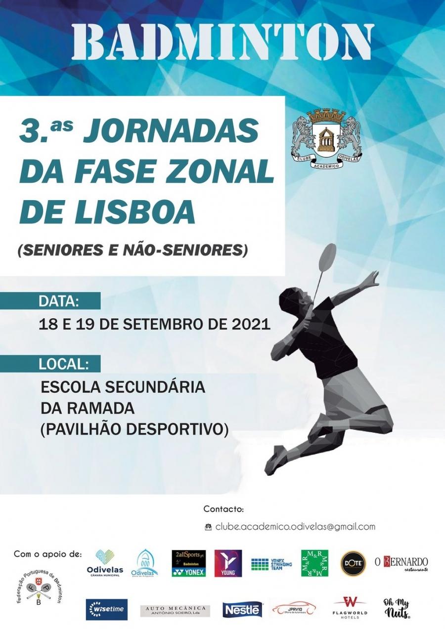 Badminton - 3.ª Jornadas da Fase Zonal de Lisboa