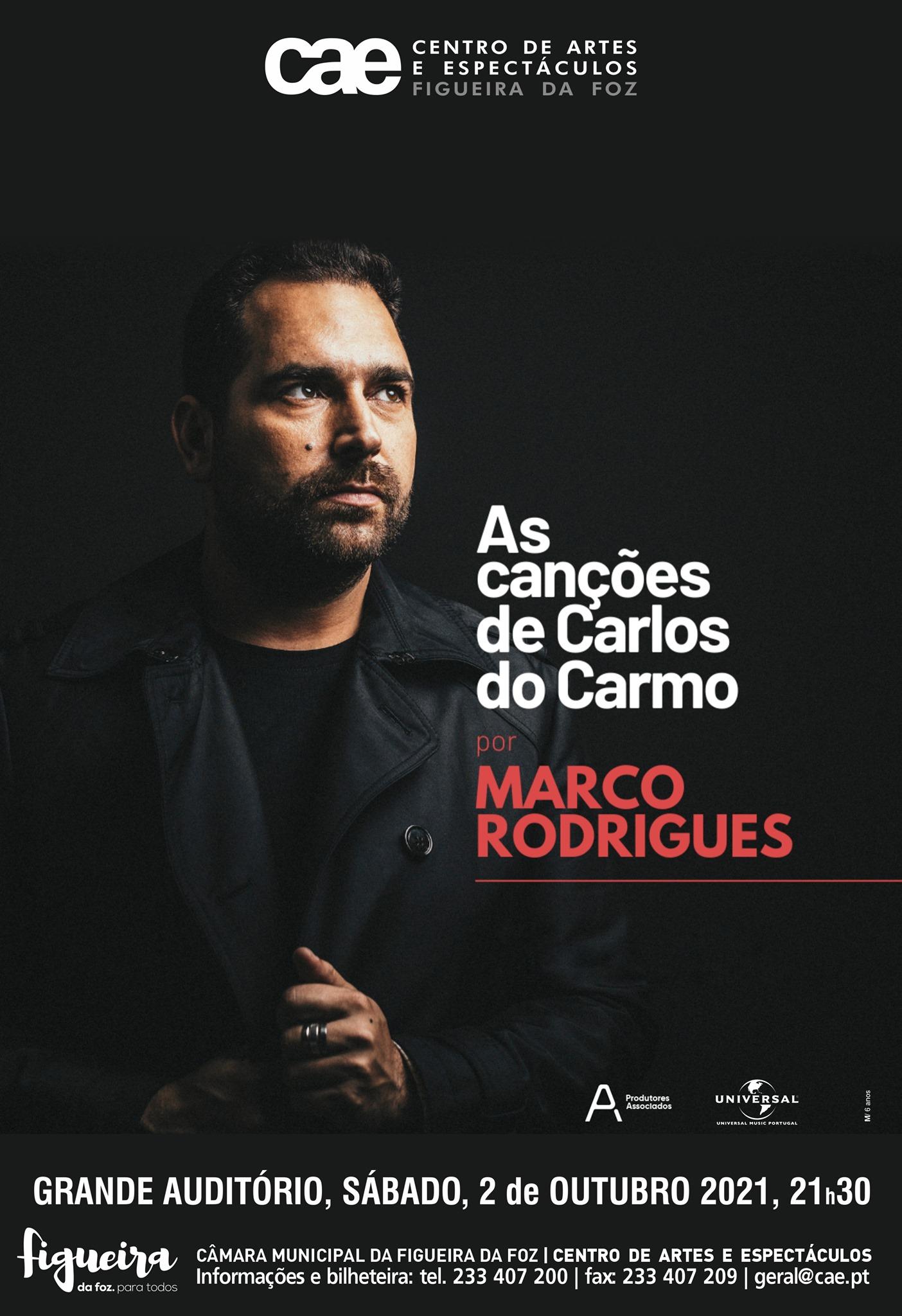 """""""As Canções de Carlos do Carmo"""", por Marco Rodrigues"""