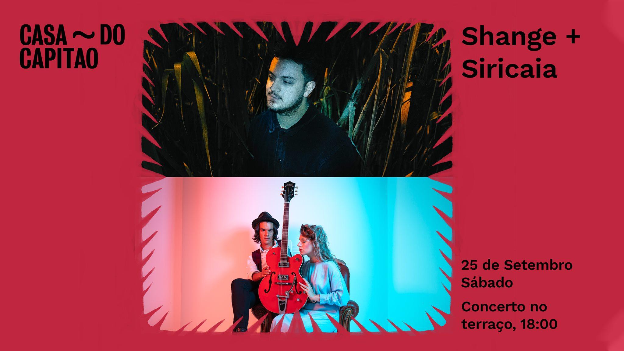 Shange + Siricaia  • concerto no terraço