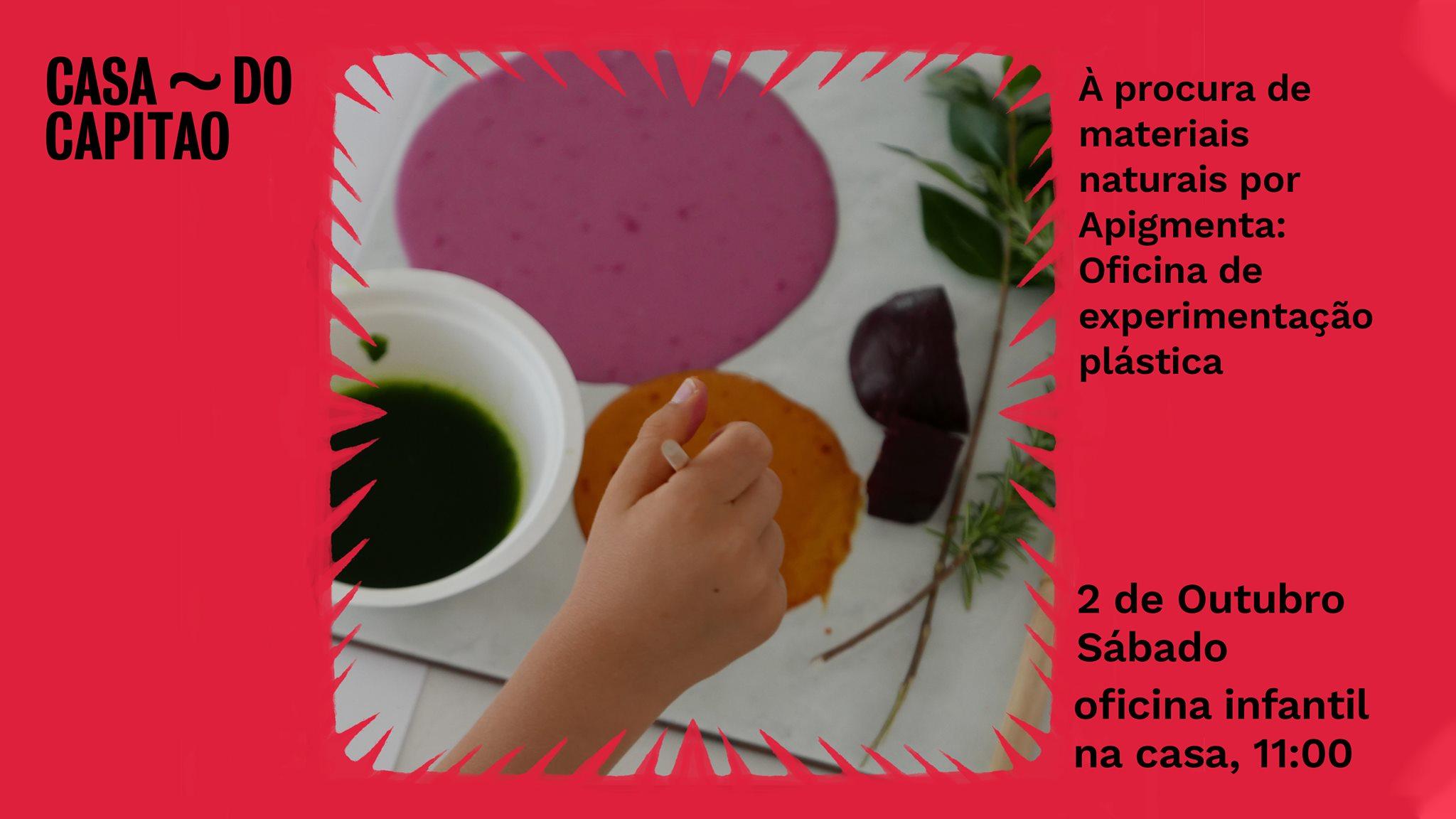 À procura de materiais naturais por Apigmenta: Oficina de experimentação plástica • oficina infantil