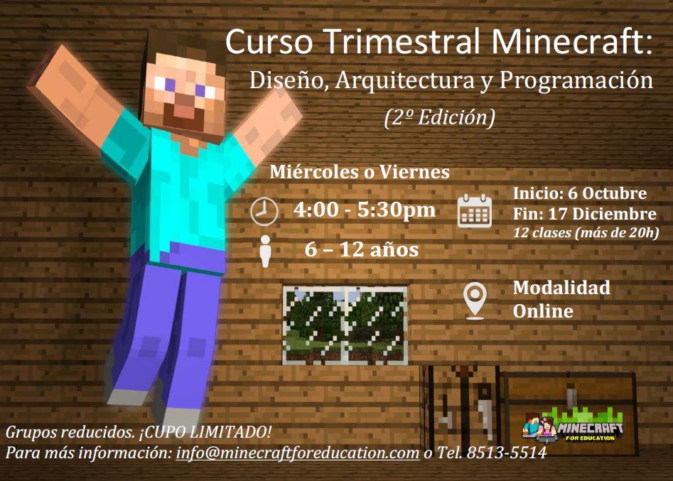 Minecraft Kids: Curso Trimestral (2º edición)