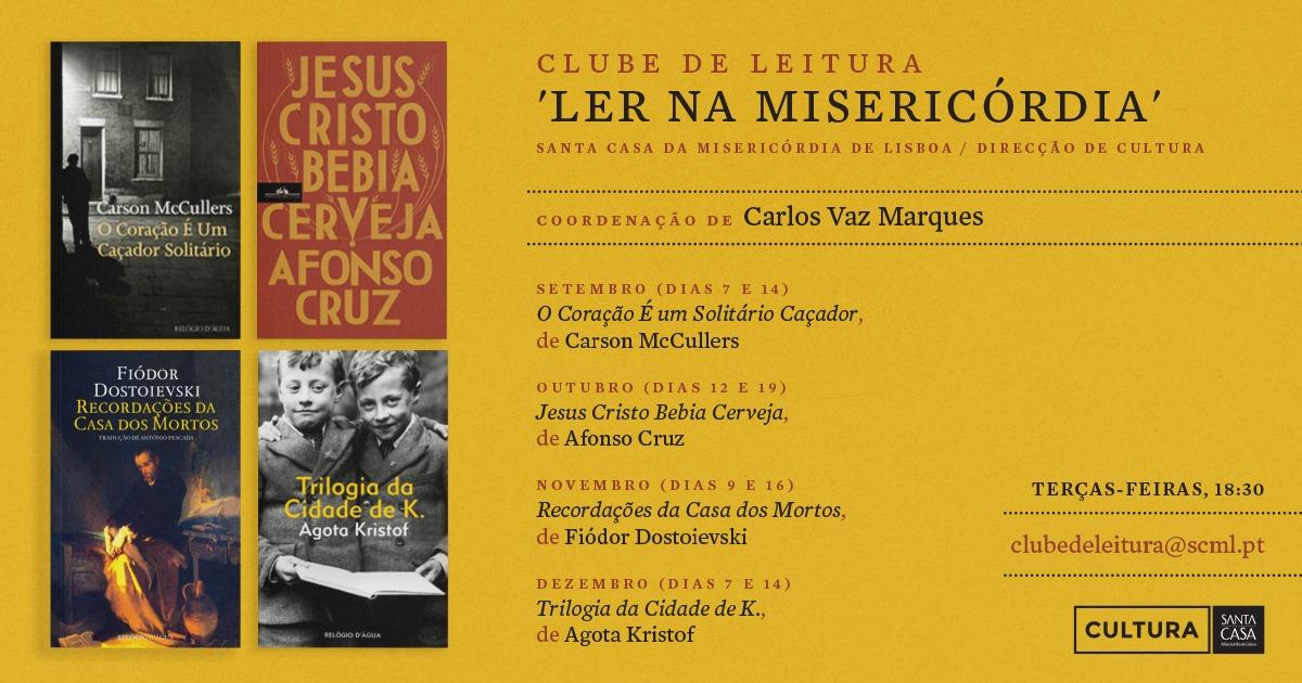 Clube de Leitura | Jesus Cristo bebia cerveja, de Afonso Cruz