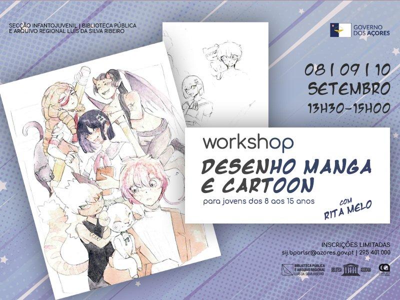 Workshop de Desenho Manga e Cartoon
