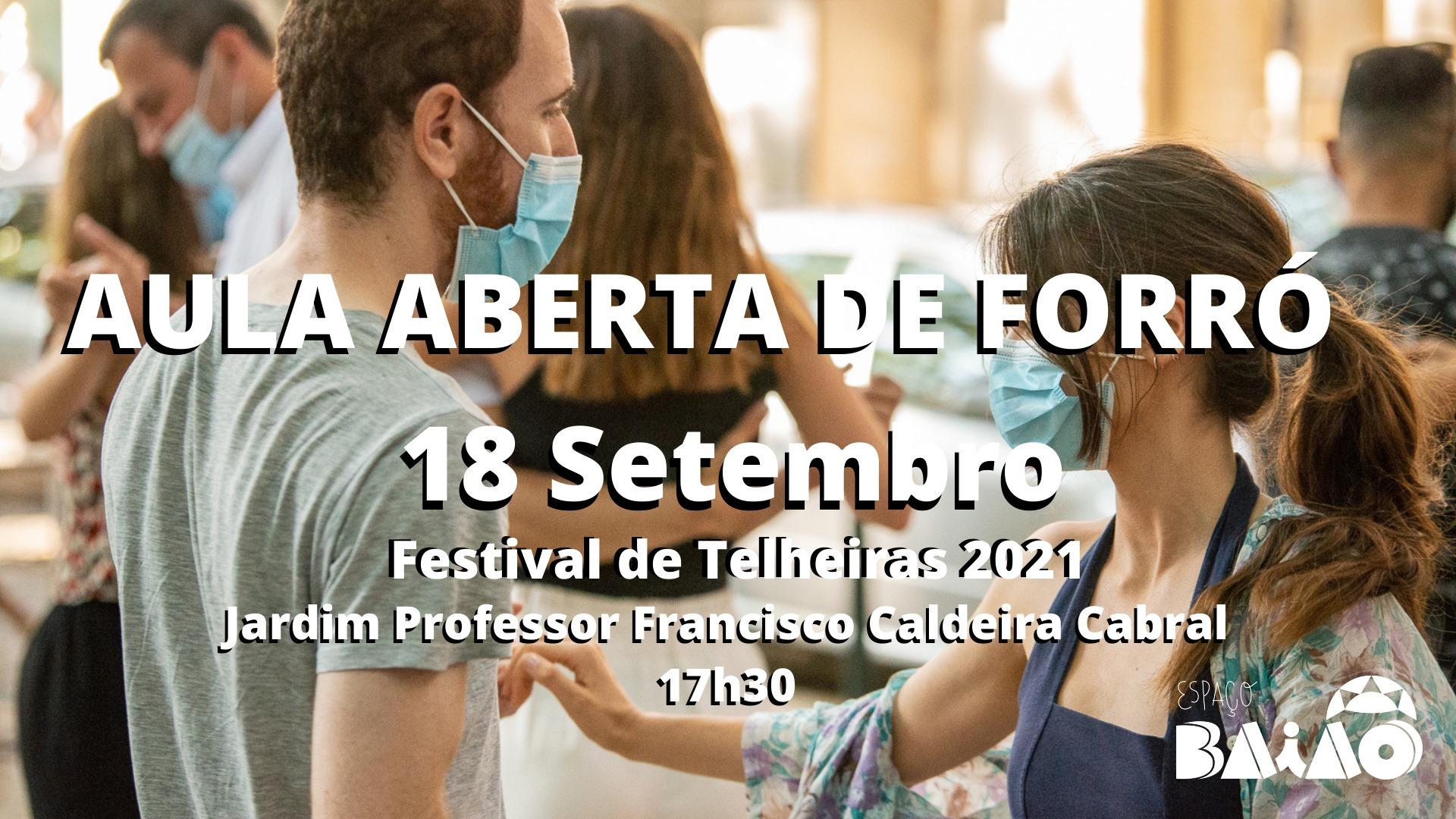Aula Aberta de Forró   Festival de Telheiras 2021   Espaço Baião