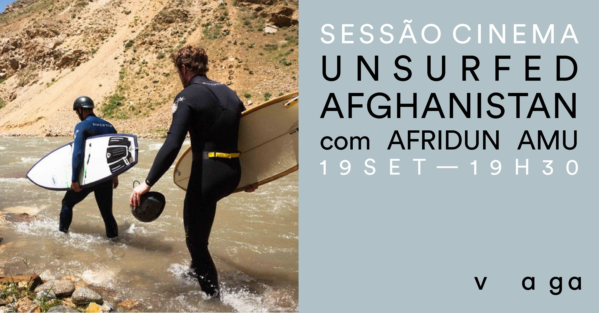 "Sessão de cinema - ""Unsurfed Afghanistan' com Afridun Amu"