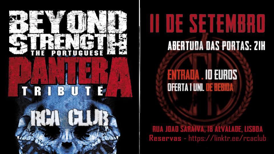 Beyond strength - tributo a Pantera @ RCA CLUB