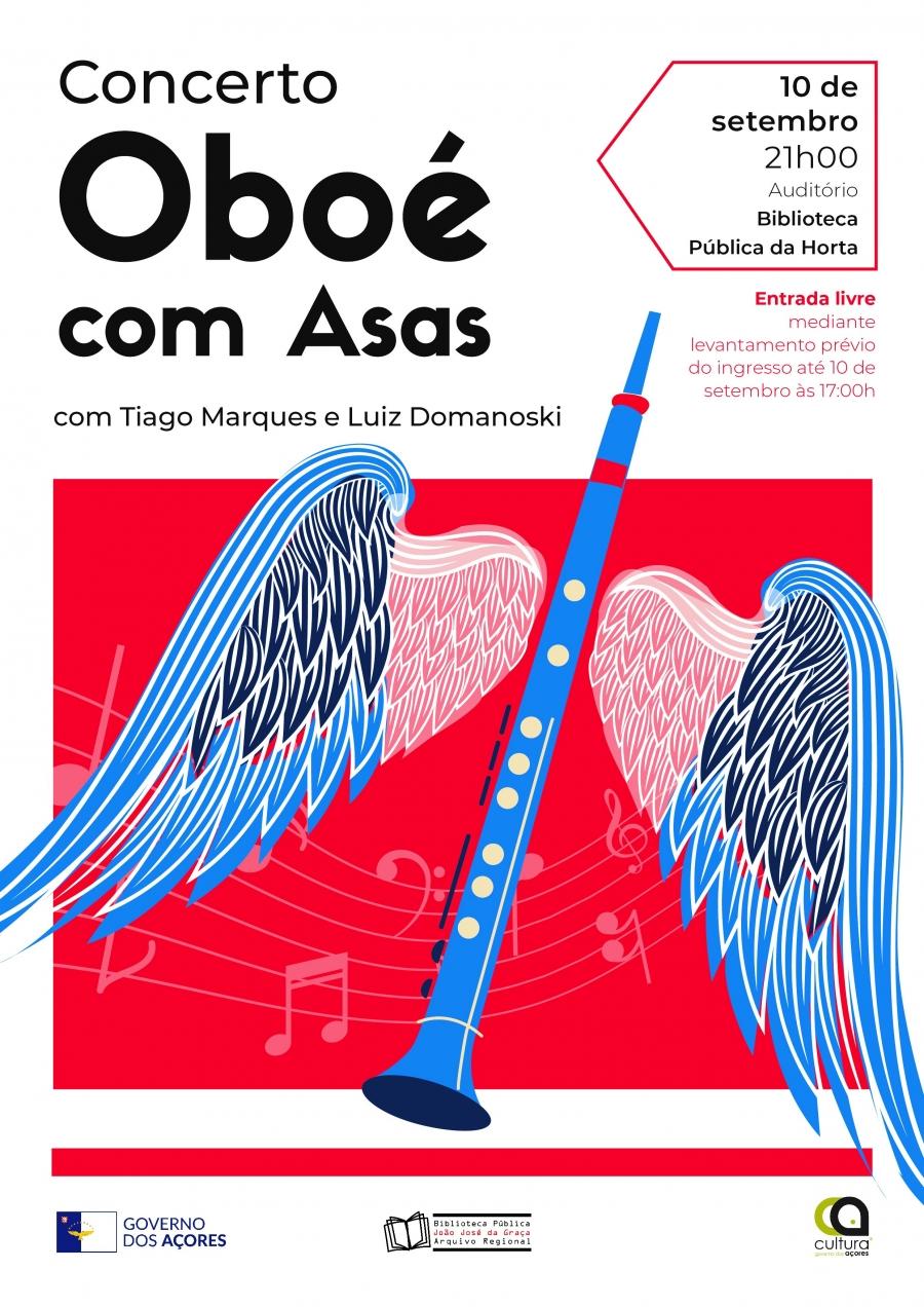"""Concerto """"Oboé com Asas"""" na Biblioteca Pública da Horta"""