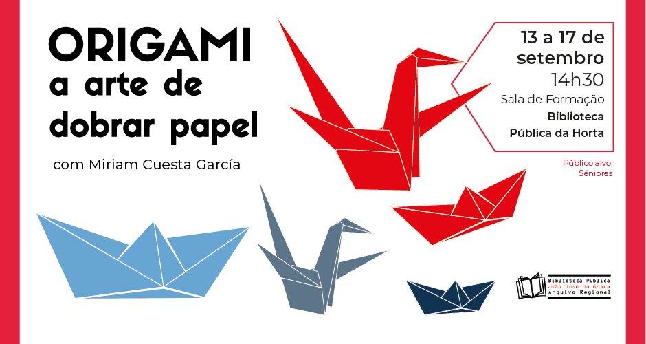 "Oficina ""Origami: a arte de dobrar papel"""