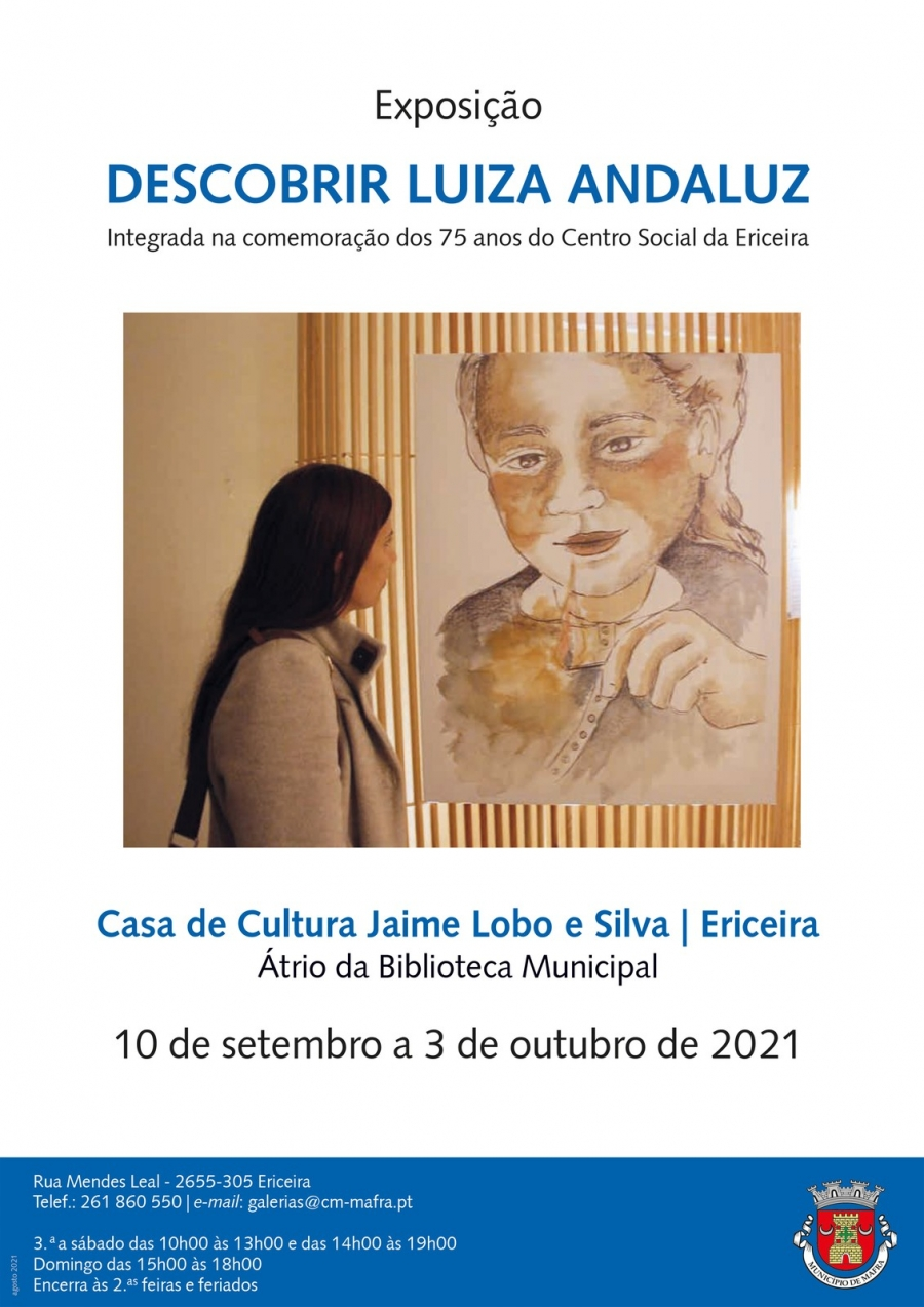 Exposição 'Descobrir Luiza Andaluz'
