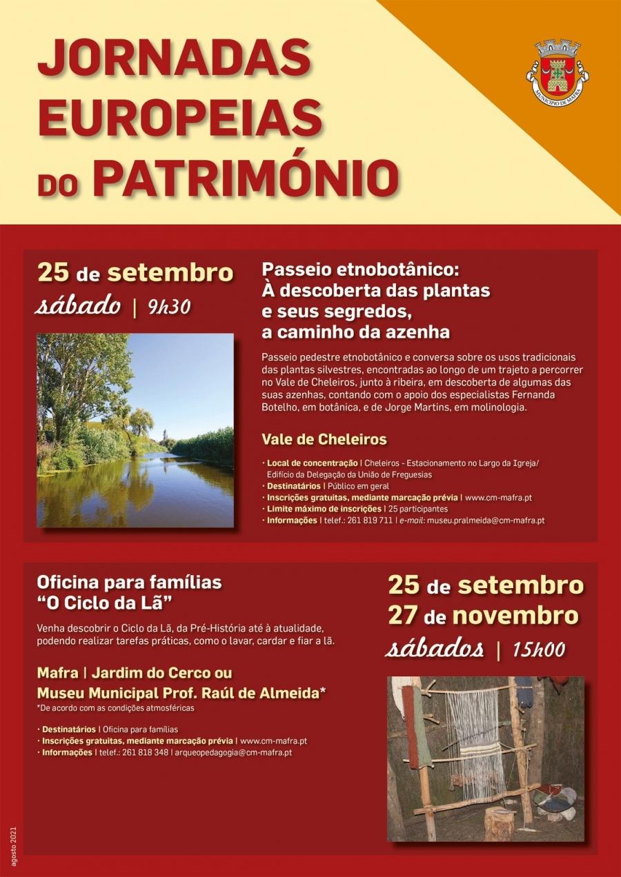 Jornadas Europeias do Património - 'Passeio etnobotânico: À descoberta das plantas e seus segredos, a caminho da azenha'