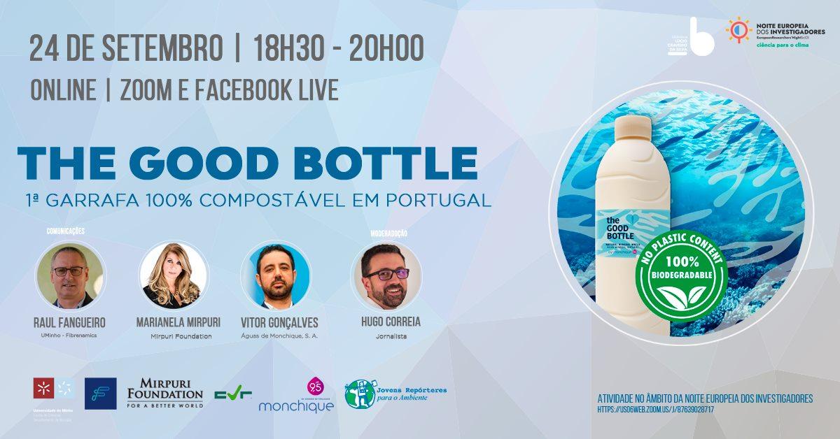 """The Good Bottle"""" - 1ª garrafa 100% compostável em Portugal'"""