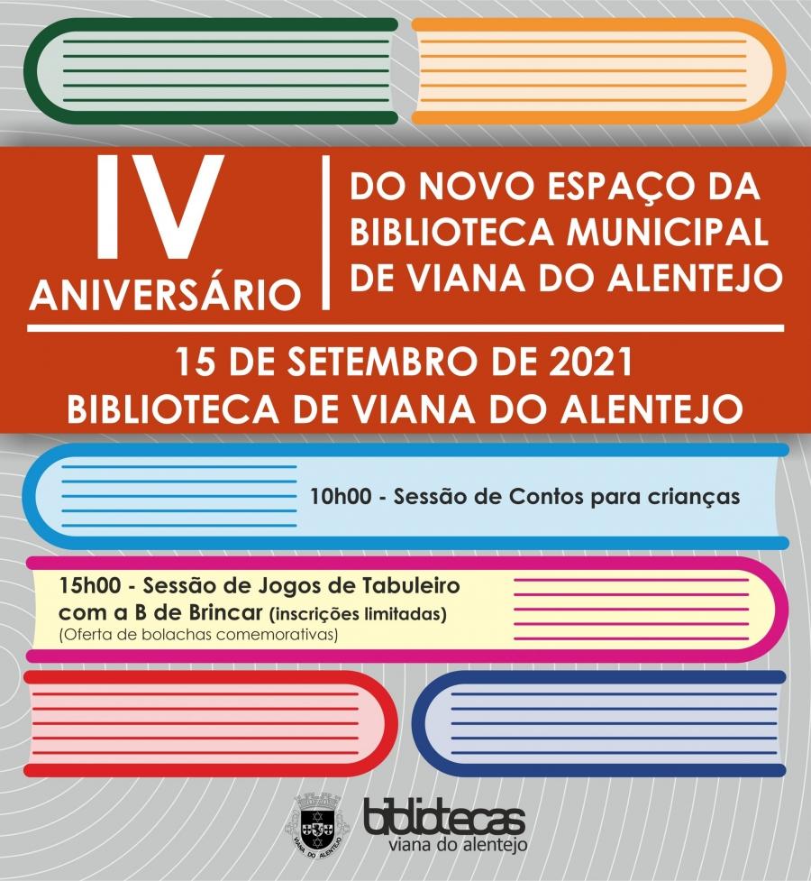 IV Aniversário do Novo Espaço da Biblioteca Municipal de Viana