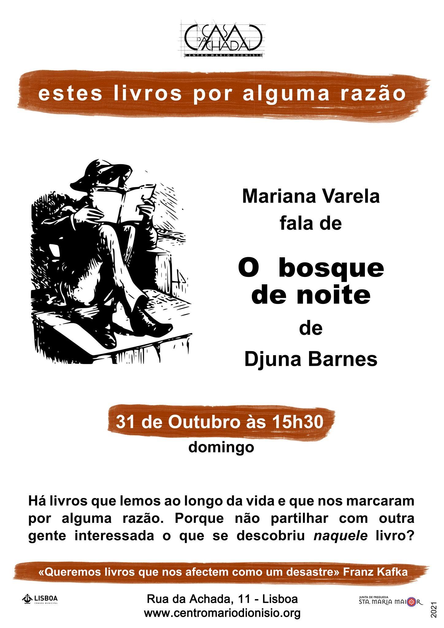 Estes livros por alguma razão: Mariana Varela fala de «Bosque da Noite» de Djuna Barnes
