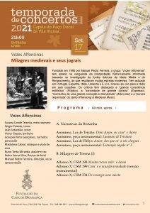 Temporada de Concertos 2021 – Vozes Afonsinas – Milagres medievais e seus jograis