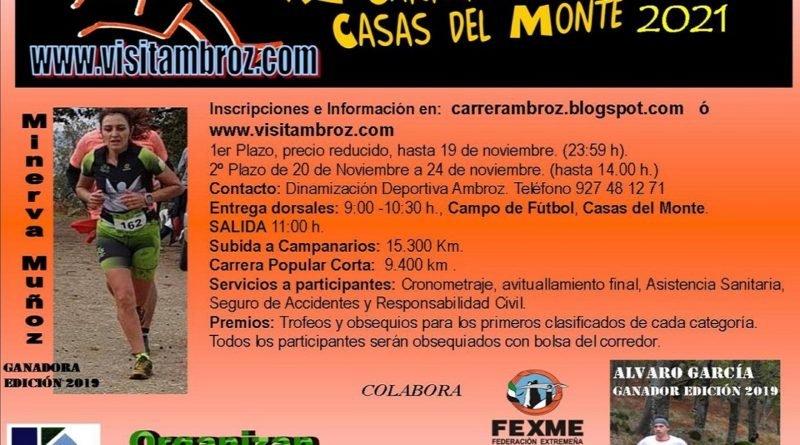 """XI  Carrera por Montaña """"Subida a Campanarios"""""""