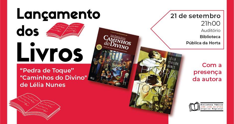 """Lançamento dos livros """"Pedra de Toque"""" e """"Caminhos do Divino"""" de Lélia Nunes"""