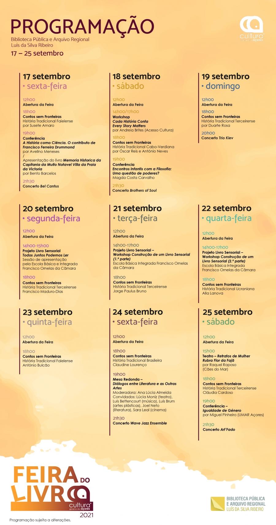 Feira do Livro Cultura Açores 2021
