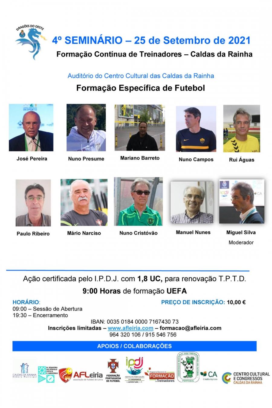 Formação Contínua de Treinadores   Formação Específica de Futebol