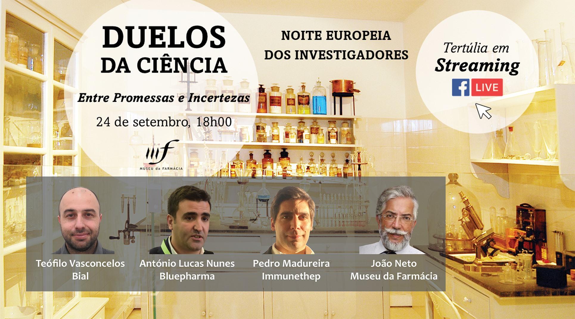 """Tertúlia """"Duelos da Ciência - Entre Promessas e Incertezas'"""