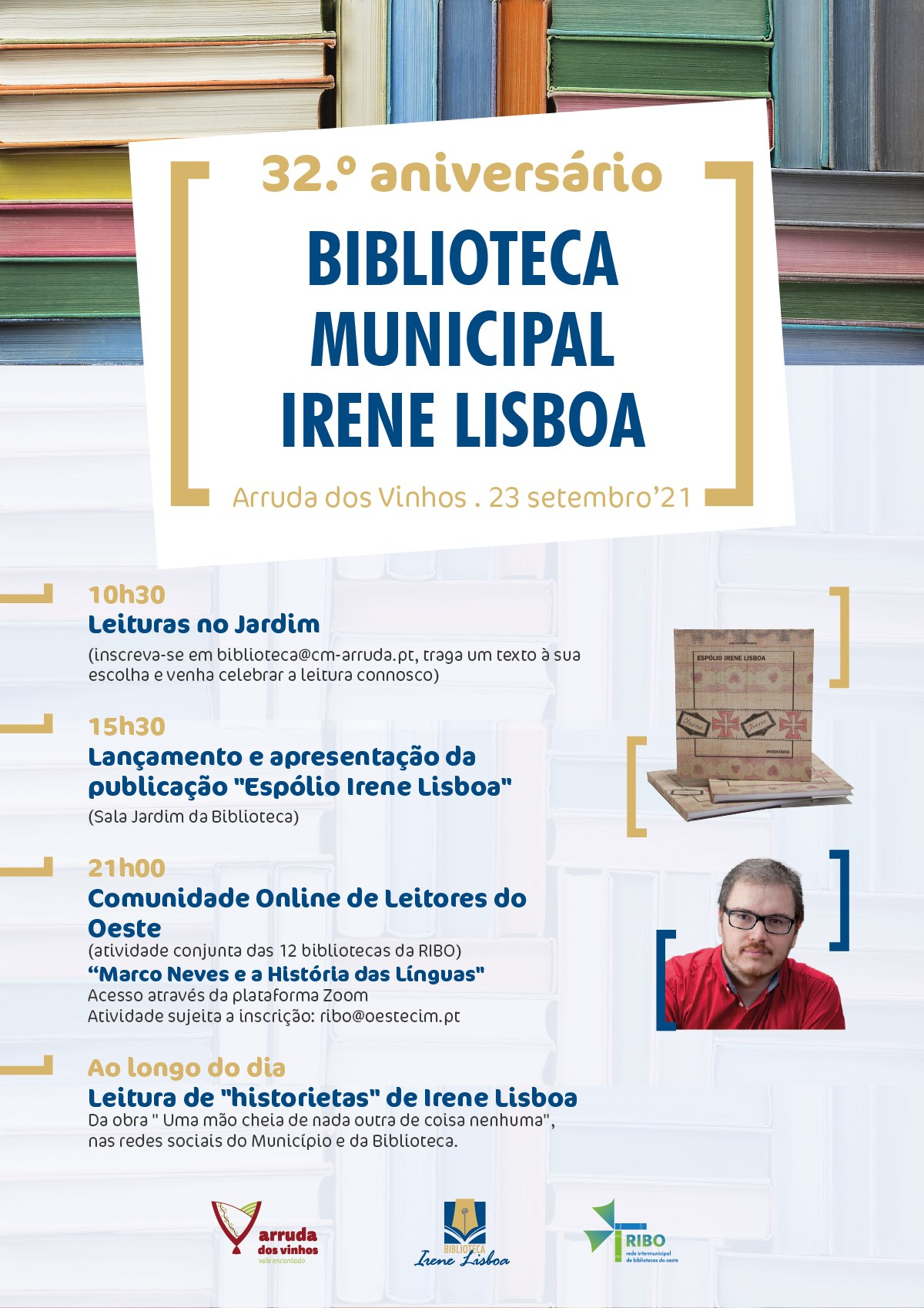 32.º aniversário da Biblioteca Municipal Irene Lisboa
