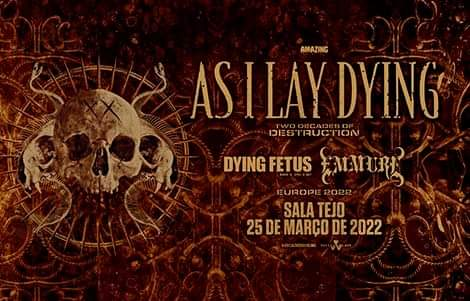 As I Lay Dying (w/ Dying Fetus + Emmure)
