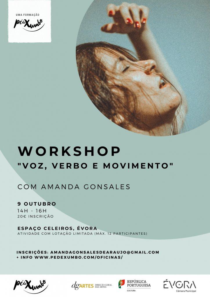 """""""Voz, verbo e movimento   Workshop com Amanda Gonsales"""