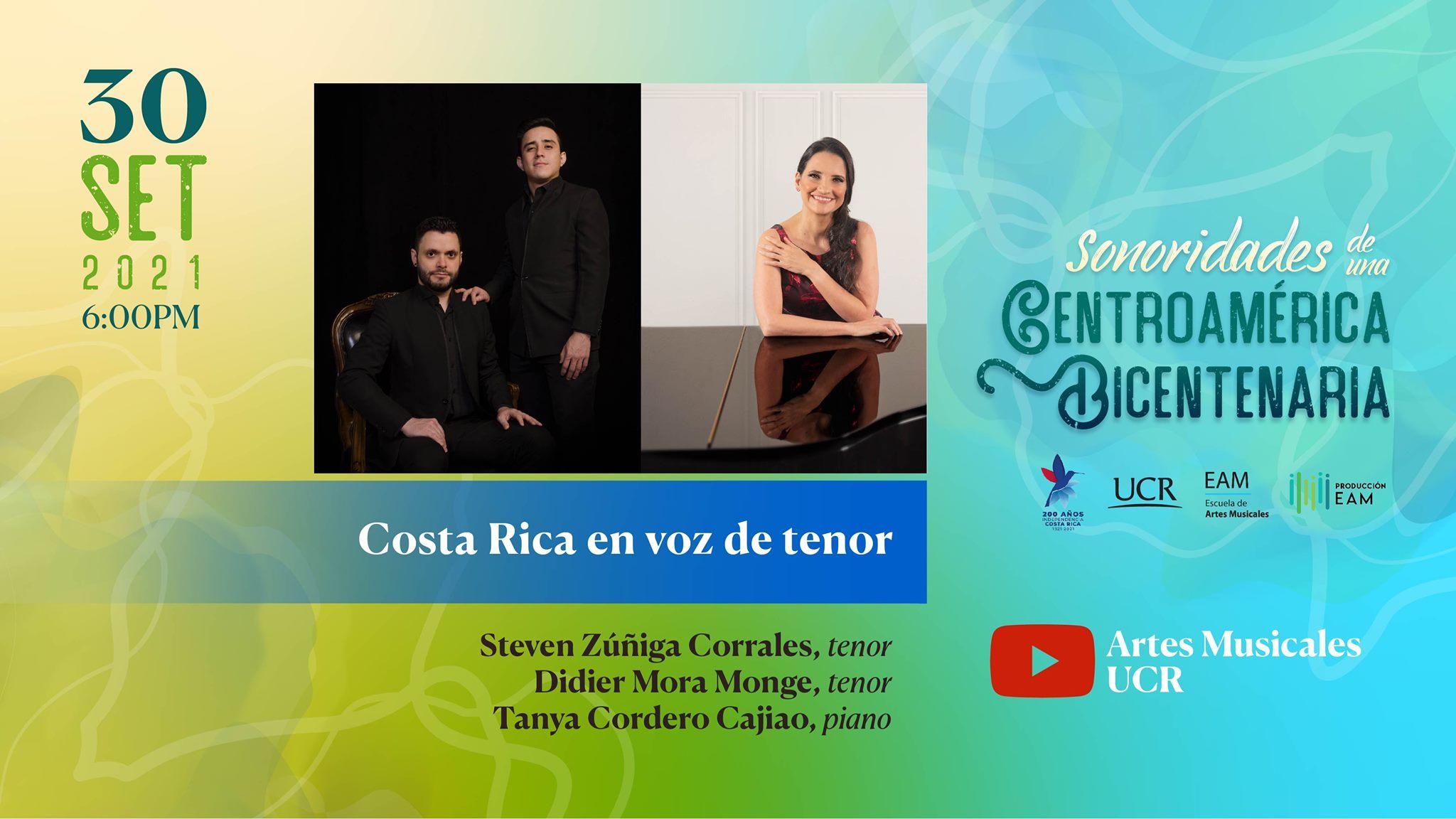 Costa Rica en voz de tenor