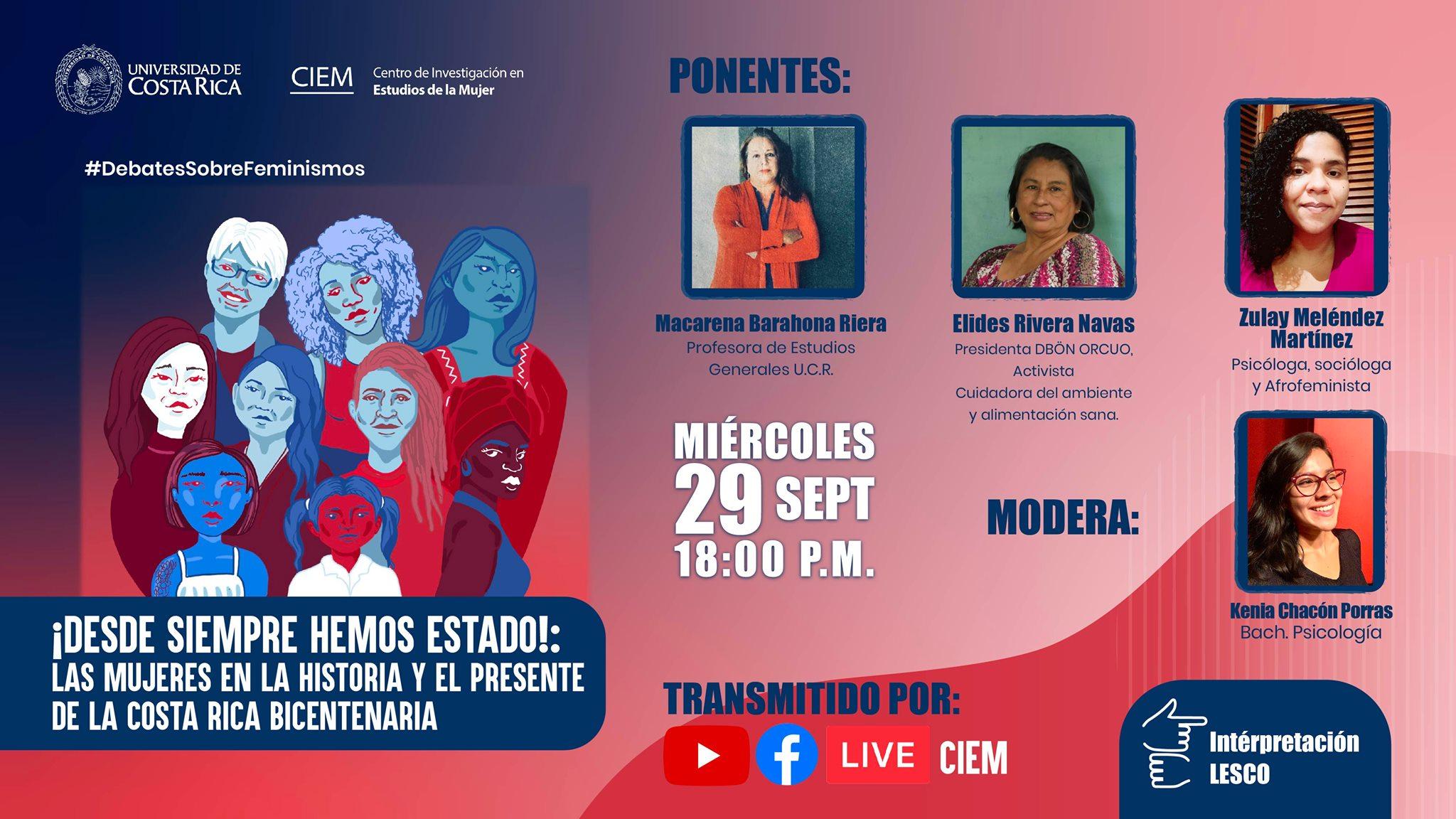 ¡Desde siempre hemos estado!: Las mujeres en la historia y el presente de la Costa Rica Bicentenaria