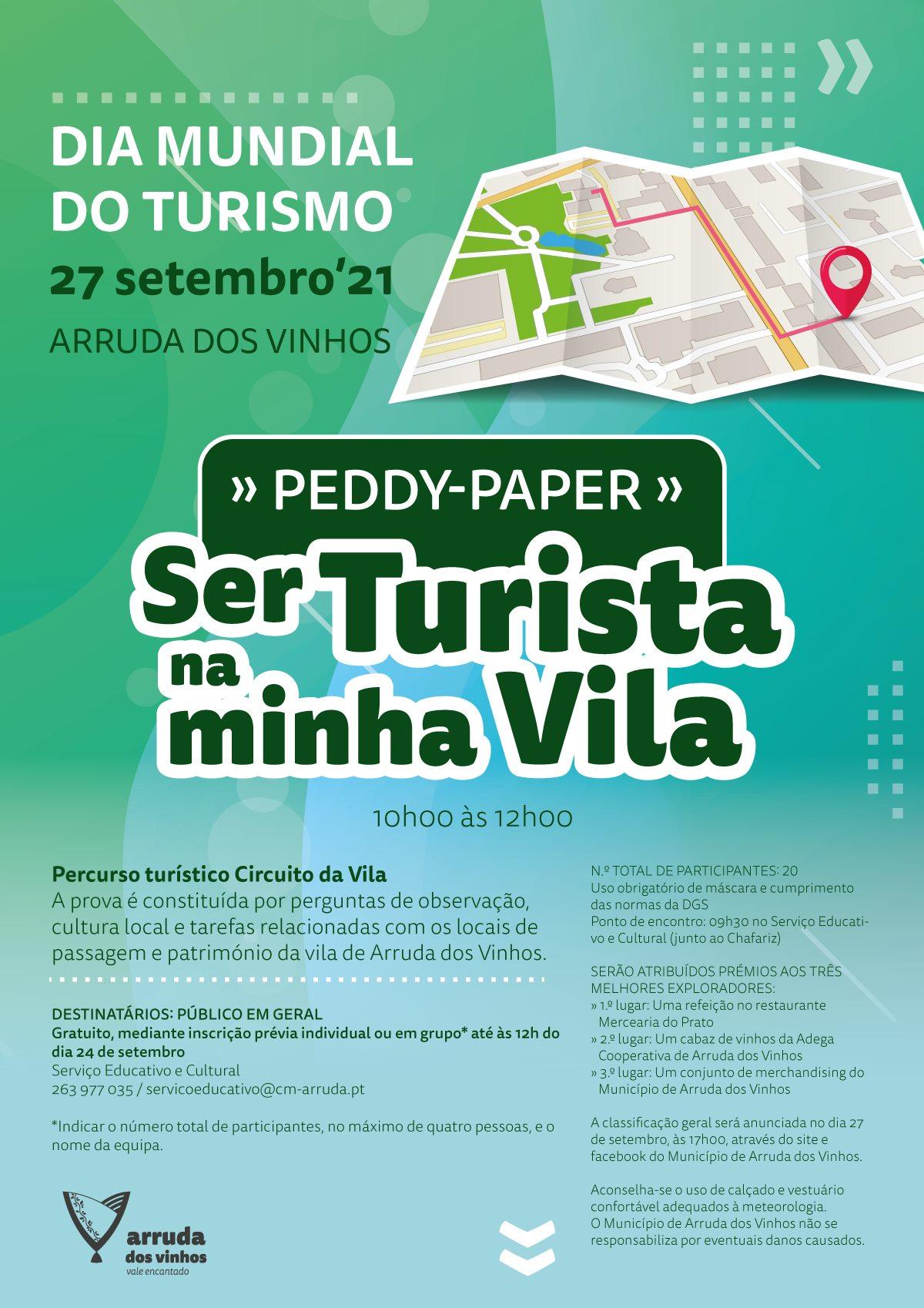 Dia Mundial do Turismo - Peddy-paper 'Ser Turista na minha Vila'