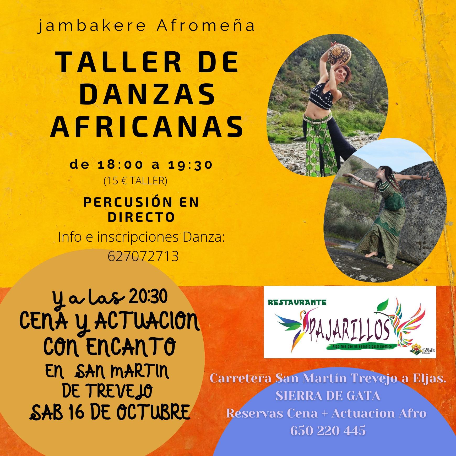 Taller de Danza Africana del Oeste en Sierra de Gata (Cáceres)