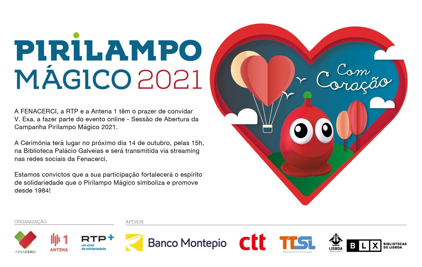 Sessão de abertura da Campanha Pirilampo Mágico 2021