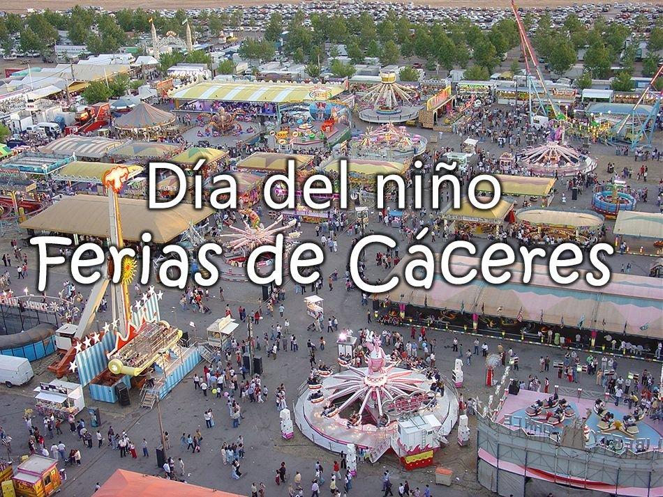 Día del Niño en las Ferias de Cáceres