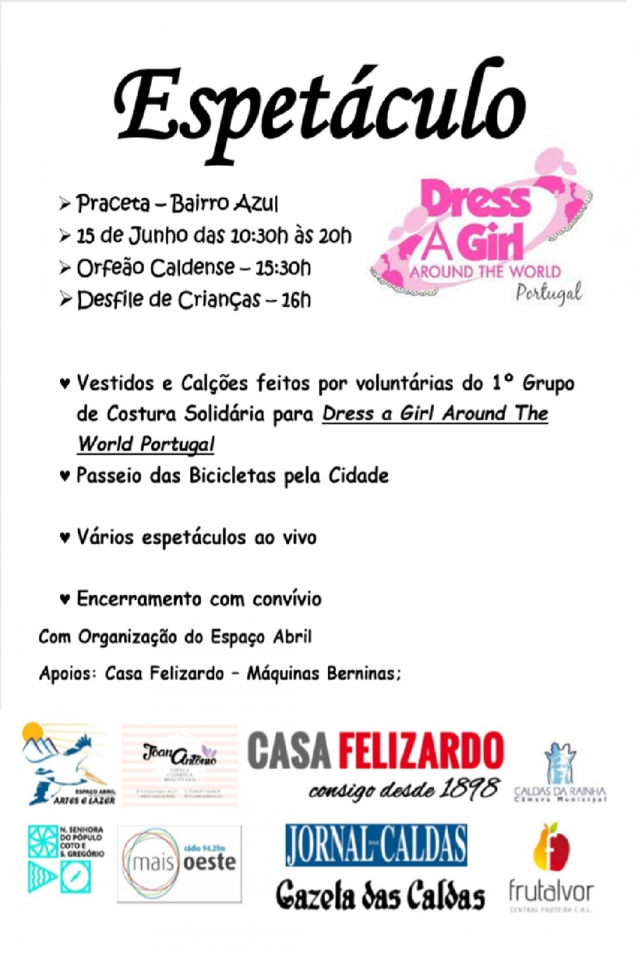 Espectáculo Dress a Girl Around the world