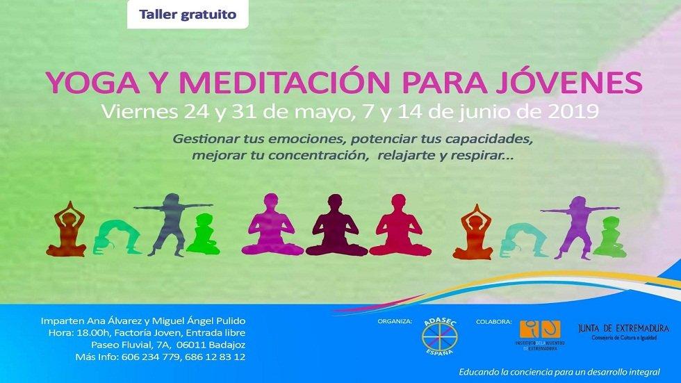 Yoga y meditación para jóvenes - Factoría Joven de Badajoz