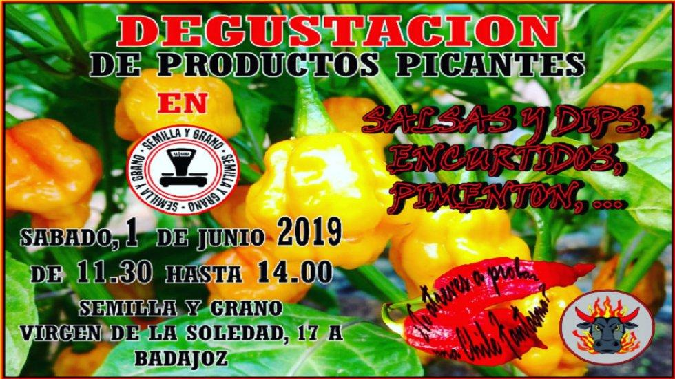 Degustación de productos picantes