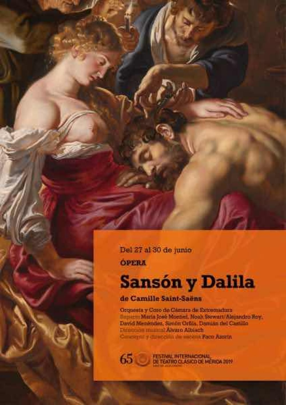 Sansón y Dalila. Festival Internacional de Teatro Clásico de Mérida