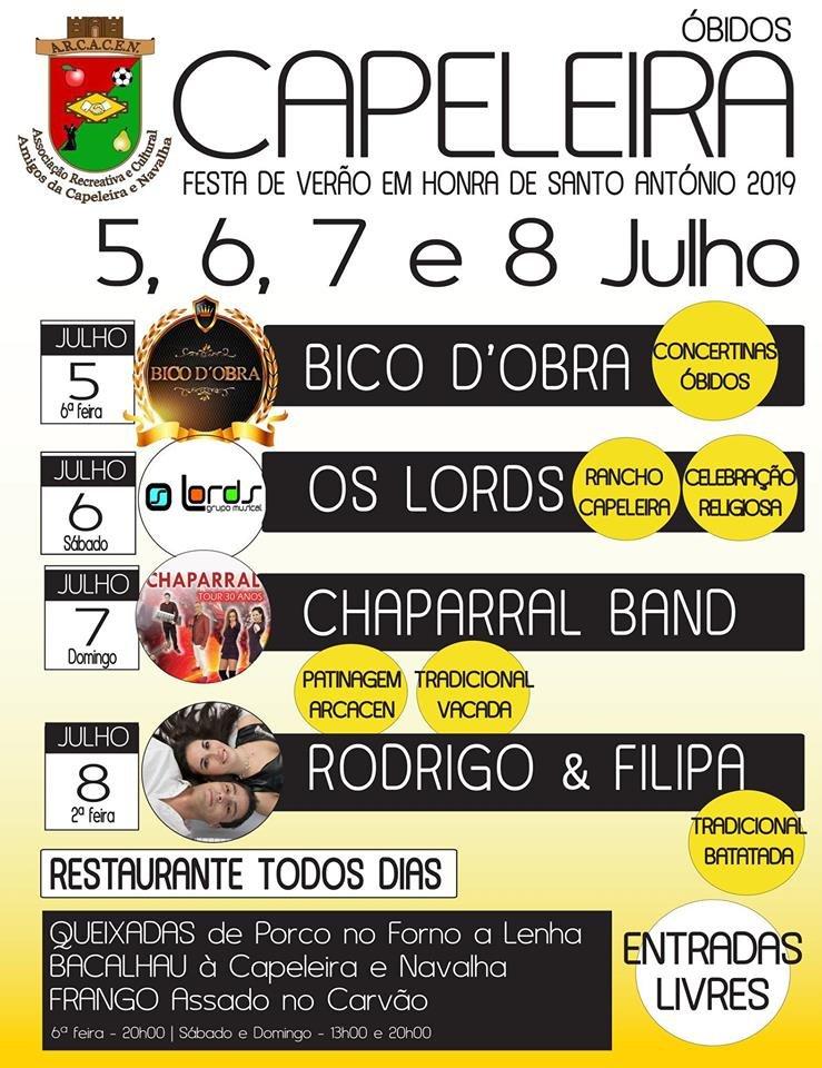 Festa de Verão em Honra de Santo António | Capeleira