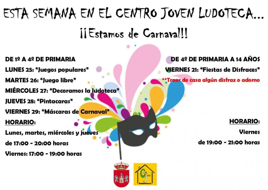 "Centro Joven Ludoteca temática: ""Estamos de Carnaval"""
