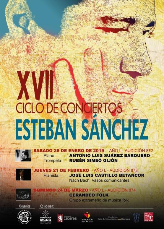 EL PIANO ASI DE SENCILLO, XVII CICLO DE CONCIERTOS DE ESTEBAN SANCHEZ